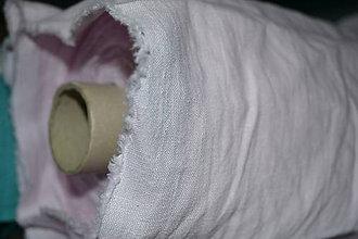 Textil - Metráž látok ľan 100% svetloružový - 0,5 m - 8493266_