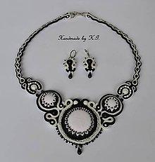 Sady šperkov - Čierno biela sada - 8496572_