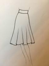 - Polkruhova sukňa kratka pre BySong - 8496393_