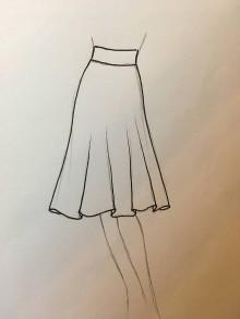 Sukne - Polkruhova sukňa kratka pre BySong - 8496393_