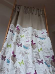 Úžitkový textil - Ľanový záves Butterfly Wings - 8496026_
