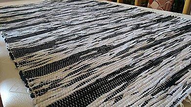 Úžitkový textil - Koberec Čierno-biely 160x74cm - 8494939_