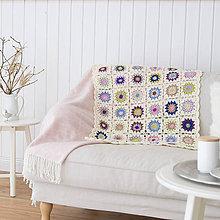 Úžitkový textil - Háčkovaná deka ... pestrofarebná - 8498057_