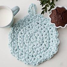 """Úžitkový textil - Podložka pod tanier či hrniec z kolekcie """" modrá lagúna """" - 8498089_"""