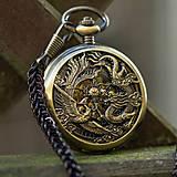 - Mechanické vreckové hodinky s krúžkovanou reťazou (20) - 8499275_