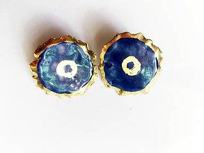 Náušnice - náušničky modré oči - 8497013_