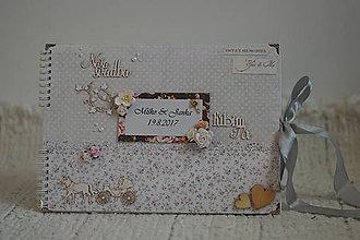 Papiernictvo - Originálny romantický svadobný fotoalbum - 8499234_