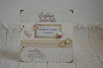 Papiernictvo - Svadobná kniha hostí v champagne farbe ;) - 8499243_