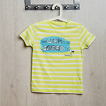 Detské oblečenie - Dobrá krajina: neVIEM čo od DOBROty detské tričko pásikavé - 8498078_