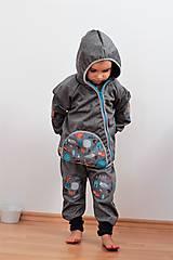 """Detské oblečenie - Softshellová bundička """"priatelia lesa"""" posledné 2ks, v.86-92 - 8499582_"""