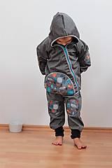 """Detské oblečenie - Softshellová bundička """"priatelia lesa"""" posledné 2ks, v.86-92 - 8499583_"""