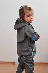 """Detské oblečenie - Softshellová bundička """"priatelia lesa"""" posledné 2ks, v.86-92 - 8499585_"""