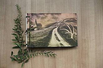 Papiernictvo - Fotoalbum klasický s autorskou ilustráciou ,,Kaplnka,, - 8497396_