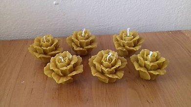 Drobnosti - Ruže sviečky z včelieho vosku - 8499428_