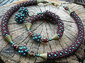 Sady šperkov - Rubínová NASIRA - 8499318_