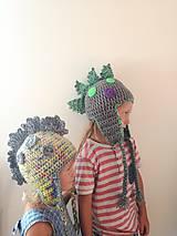 Detské čiapky - Dinosaury - 8497560_