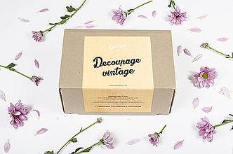 Iný materiál - Štartovací balíček Decoupage vintage style - 8498416_