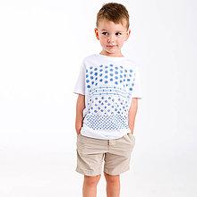 Detské oblečenie - Detské tričko Modrotlač - 8497607_