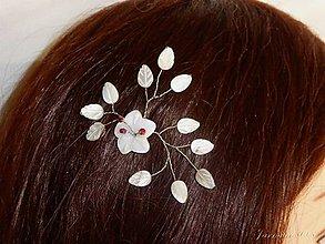 Ozdoby do vlasov - Perleťová sponka - 8498635_