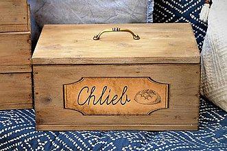 Nádoby - Chlebník vo farbe bledého starého dreva - 8496695_