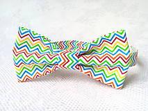 Detské doplnky - Bow tie for kids (zig-zag) - 8501516_