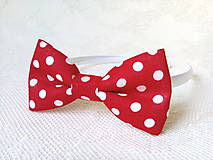 Ozdoby do vlasov - Karkulka headband (red/white polka dots) - 8501750_