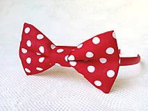 Ozdoby do vlasov - Karkulka headband (red/white polka dots) - 8501751_