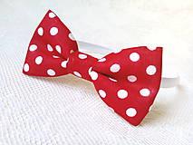 Ozdoby do vlasov - Karkulka headband (red/white polka dots) - 8501753_