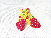 Ozdoby do vlasov - Pin Up hair clips (cherries/hearts/dots) - 8502624_