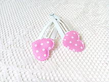 Ozdoby do vlasov - Pin Up hair clips (white/pink/white dots) - 8502642_