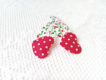 Ozdoby do vlasov - Pin Up hair clips (cherries/hearts/dots) - 8502667_