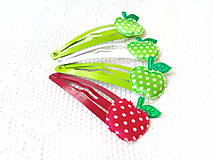 Ozdoby do vlasov - Pin Up hair clips (apples) - 8502695_