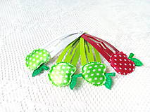 Ozdoby do vlasov - Pin Up hair clips (apples) - 8502696_