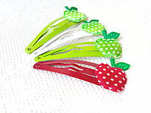 Ozdoby do vlasov - Pin Up hair clips (apples) - 8502697_