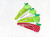 Ozdoby do vlasov - Pin Up hair clips (apples) - 8502699_