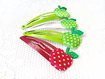 Ozdoby do vlasov - Pin Up hair clips (apples) - 8502700_