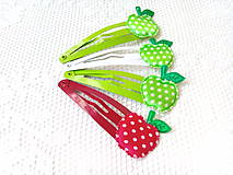 Ozdoby do vlasov - Pin Up hair clips (apples) - 8502701_