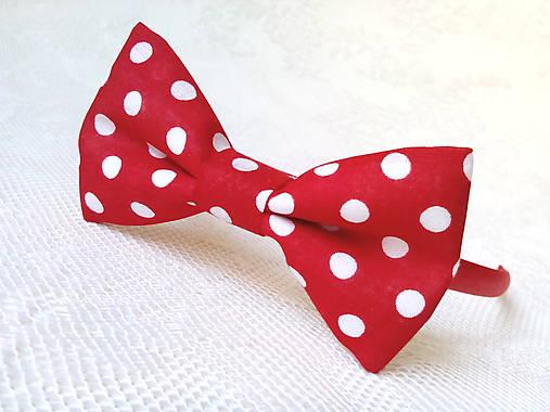 Karkulka headband (red/white polka dots)