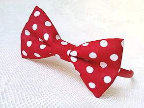 Ozdoby do vlasov - Karkulka headband (red/white polka dots) - 8501752_
