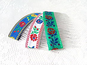 Ozdoby do vlasov - Folklore hair combs - 8502397_