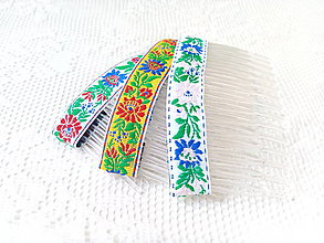 Ozdoby do vlasov - Folklore hair combs - 8502427_