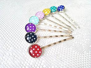 Ozdoby do vlasov - Dots hair pins - 8502536_