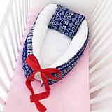 Textil - Hniezdo pre bábätko - Čičmany (Červená) - 8501193_