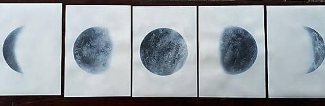 Obrazy - Fázy Mesiaca - 8502758_