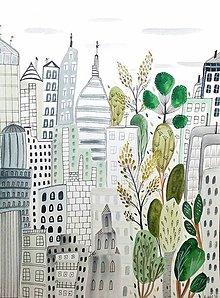Obrazy - Mesto  New York 2 -  ilustrácia obraz / originál maľba - 8499848_