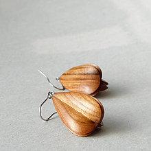 Náušnice - Jemné - drevené náušnice - 8500208_