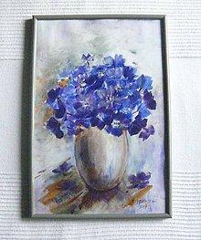 Obrazy - Kytička fialových kvetov - 8501647_