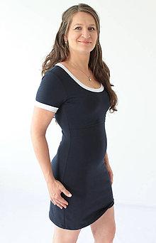 Tehotenské oblečenie - Dlhý rukáv pre 3v1 dojčiace púzdrové šaty s lemovaním - 8501503_