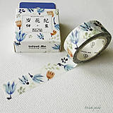Papier - papierová washi páska Tulipány (15 mm x 7 m) - 8501440_