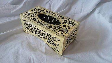 Krabičky - vyrezávaná krabička na vreckovky - 8501552_